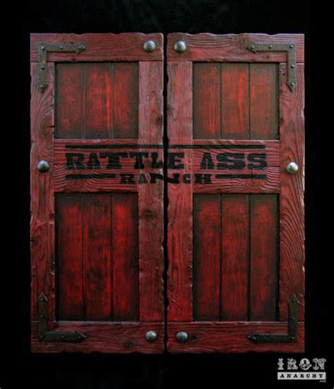 handcrafted custom distressed swinging saloon doors