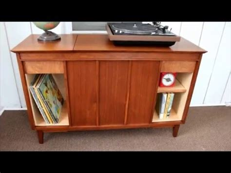 vintage stereo cabinet repurposed vintage stereo cabinet refinish repurpose youtube