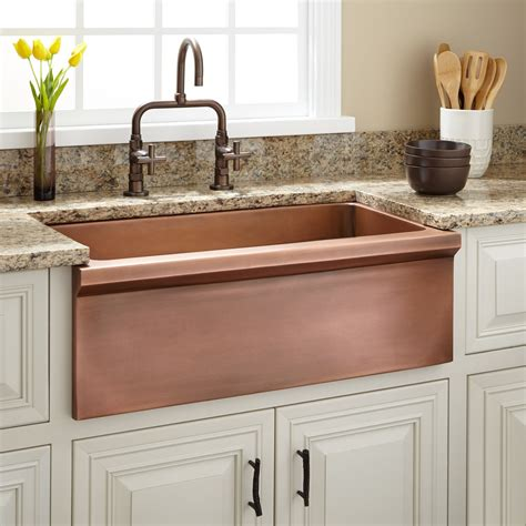 farm style sinks for kitchen 30 quot bria copper farmhouse sink kitchen 8909