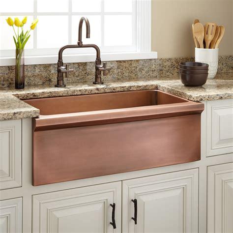 farmhouse style kitchen sink 30 quot bria copper farmhouse sink kitchen