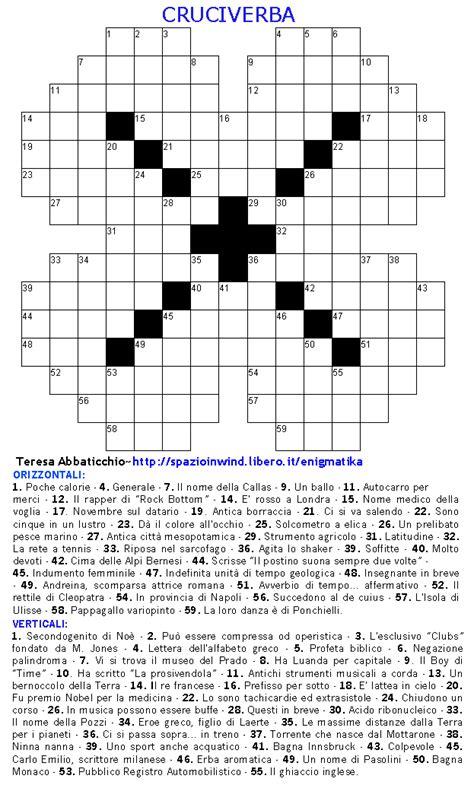 cruciverba facili per ragazzi da stare enigmatika enigmistica web