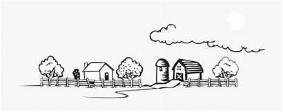 Farm Clip Landscape Coloring Cartoon Netclipart Animals