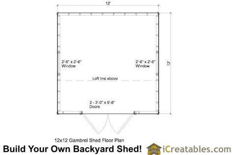 12x12 gambrel shed plans 12x12 barn shed plans