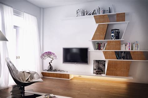 Contemporary Bedrooms By Koj Design by Screen Flat Tv Placed Between Beautiful Bonsai Plant And