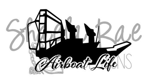 Airboat Silhouette by Airboat Vinyl Decal Airboat Sw Vinyl By
