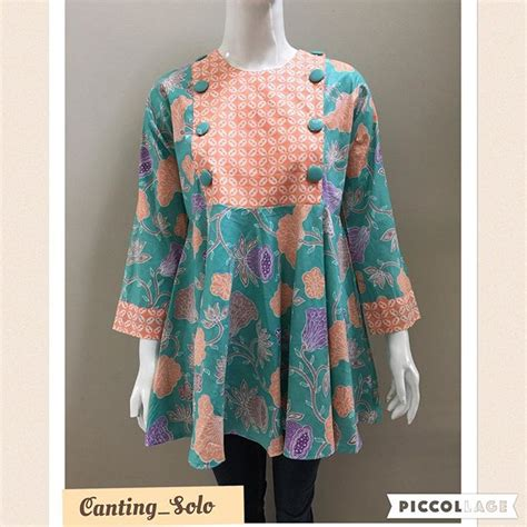 khimar terbaru model blouse batik remaja collar blouses