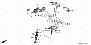 Honda Atv 2004 Oem Parts Diagram For Steering Shaft