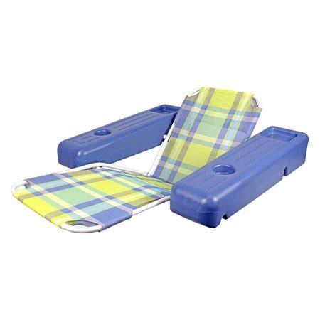 poolmaster caribbean plaid pool lounge chair float