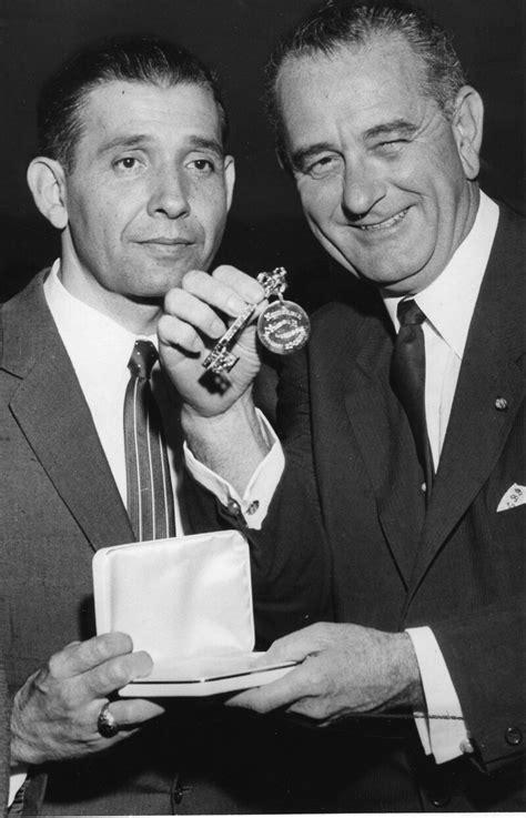 Raymond L. Telles and Lyndon B. Johnson - El Paso, Texas