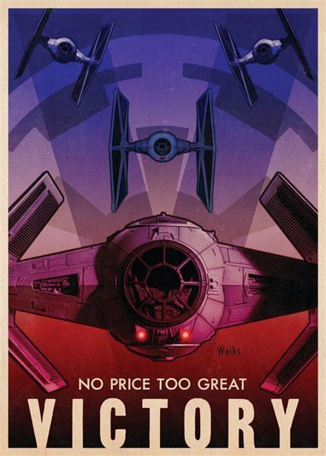 striking illustrated star wars propaganda posters