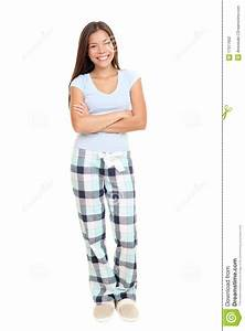 Woman Standing In Pajamas Stock Photography - Image: 17977602