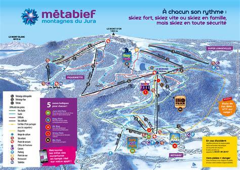 metabief mont d or m 233 tabief mont d or plan des pistes de ski m 233 tabief mont d or