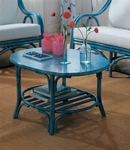 Table Basse Rotin : table basse ovale en rotin brin d 39 ouest ~ Teatrodelosmanantiales.com Idées de Décoration