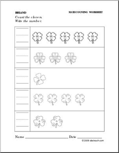 worksheet symbols write the number preschool 618 | preschoolset irishlegends writenumber p
