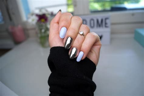 Chrome/ Mirror Nails Without Gel