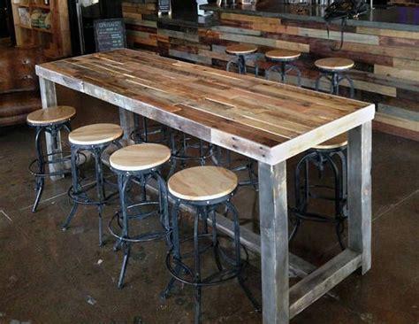 bar high top tables reclaimed wood bar table restaurant counter community