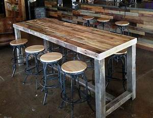 Table Bar But : reclaimed wood bar restaurant counter community rustic custom kitchen coffee conference office ~ Teatrodelosmanantiales.com Idées de Décoration