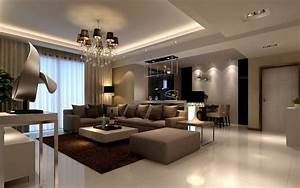 The interior of a living room in brown color features for Interior paint colors browns