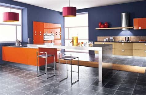 peinture cuisine bleu peinture murale cuisine 50 exemples design bi et tricolores