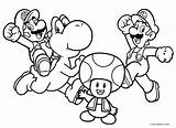 Mario Coloring Pages Brothers Printable sketch template
