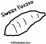Potato Coloring Sweet Pages Yam Drawing Potatoes Vegetable Sheets Vegetables Colouring Printable Print Patterns Google Getdrawings Drawings Food Advertisement Again sketch template