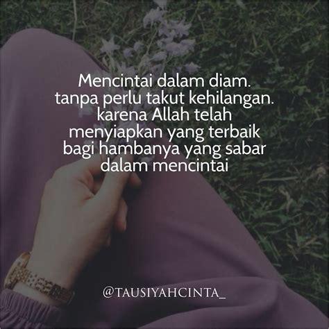quotes cinta  diam islami love