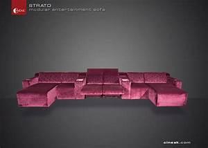 cineak strato modular entertainment sofa modern With sectional entertainment sofa