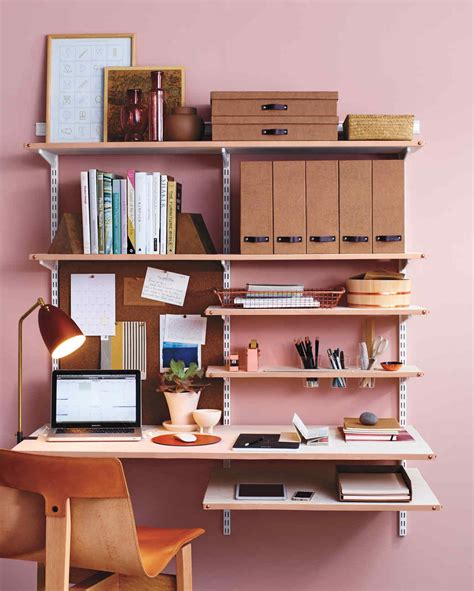 Diy Leather Shelf Edging For A Chic Home Office Martha