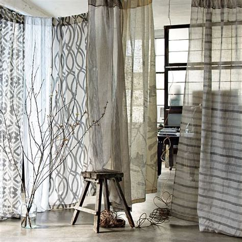 west elm drapes bamboo printed curtain west elm