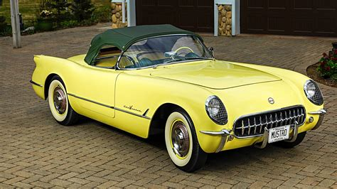 This 1955 Corvette in Harvest Gold Is One of the Rarest ...