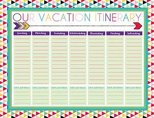 free printable daily and weekly vacation calendars free With trip calendar planner template