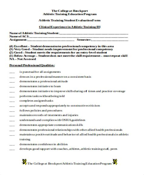 sample trainer evaluation form  examples  word