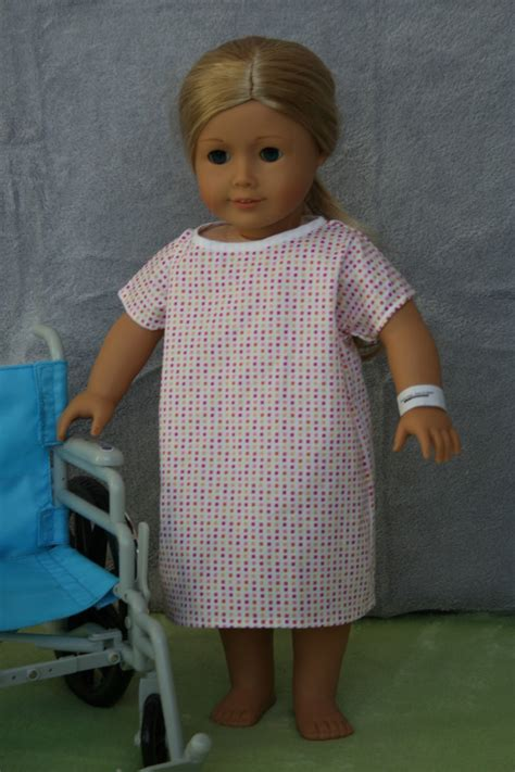 arts  crafts   american girl doll hospital gown