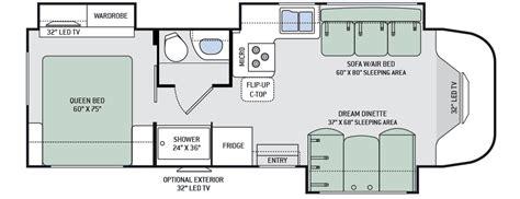 Thor Class C Rv Floor Plans by 2016 Siesta 29tb Class B Plus Motorhomes Rvs