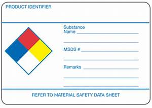 icc gt labels gt nfpa With blank msds label