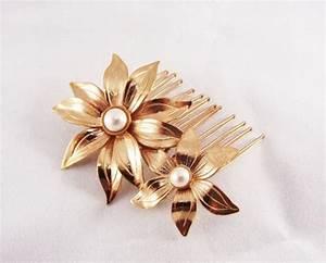 Paypal Freunde Einladen : flower hair accessories rose gold hair comb swarovski 39 s pearls hairpiece bridal hair ~ Orissabook.com Haus und Dekorationen