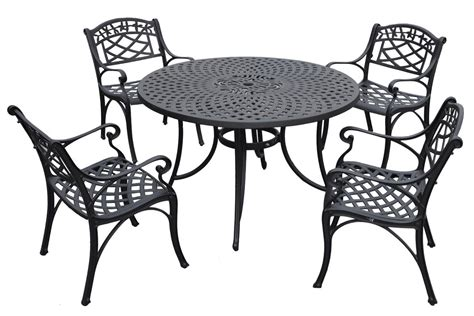 sedona 5 cast aluminum outdoor dining set with arm