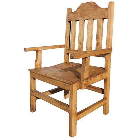 rustic pine collection santana arm chair sil133