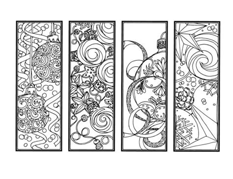christmas coloring bookmarks christmas coloring pages