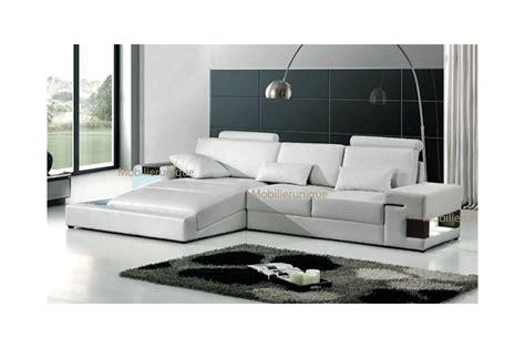 ensemble canape canapé cuir meuble salon design italien pas cher
