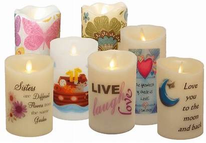 Flameless Decals Candle