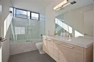 Salle De Bain Grise Et Bois : meuble salle de bains bois carrelage et d co en 105 id es ~ Melissatoandfro.com Idées de Décoration