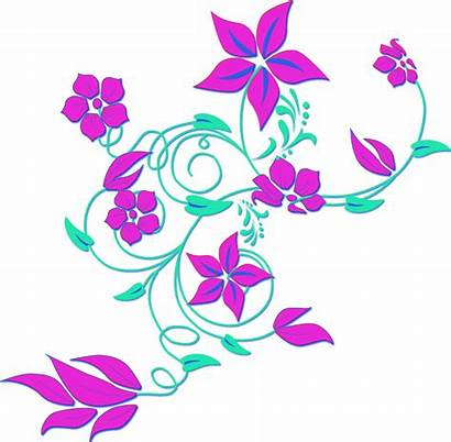Flower Clip Clipart Vector Royalty Clker Susi