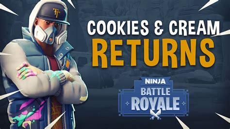 cookies  cream returns fortnite battle royale gameplay