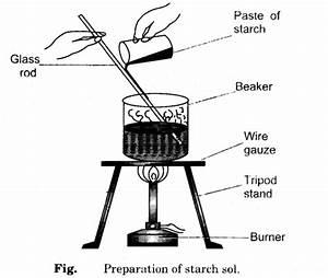 To Prepare Colloidal Solution  Sol  Of Starch