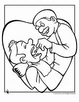 Dentist Coloring Pages Dental Clipart Exam Tooth Cliparts Sheets Hygiene Activities Clip Community Visit Helpers Kid Money Prek Library Jr sketch template