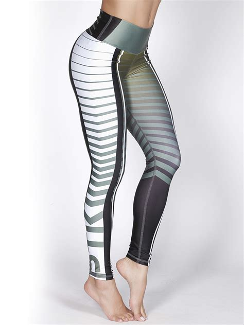 Printed High Waisted Fitness Leggings Online Shop Uae