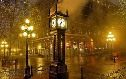Gastown Clock Vancouver Town Background Street Wallpapers