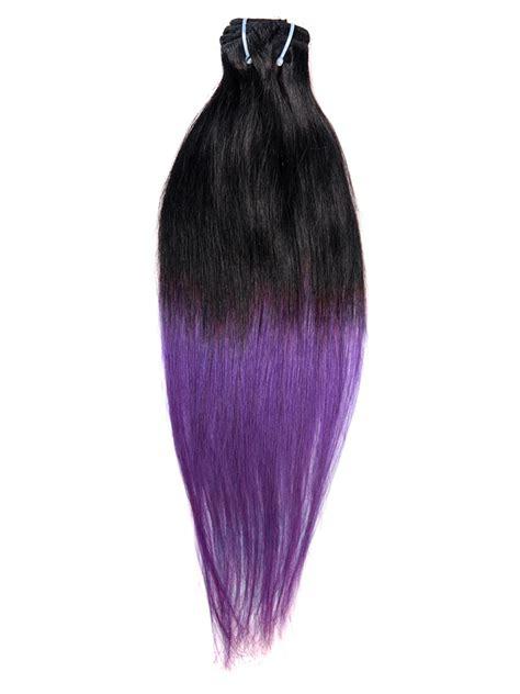 natural dark  purple ombre clip harmonious