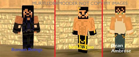 Gta San Andreas Wwe The Shield 2016 Minecraft Skin Mod